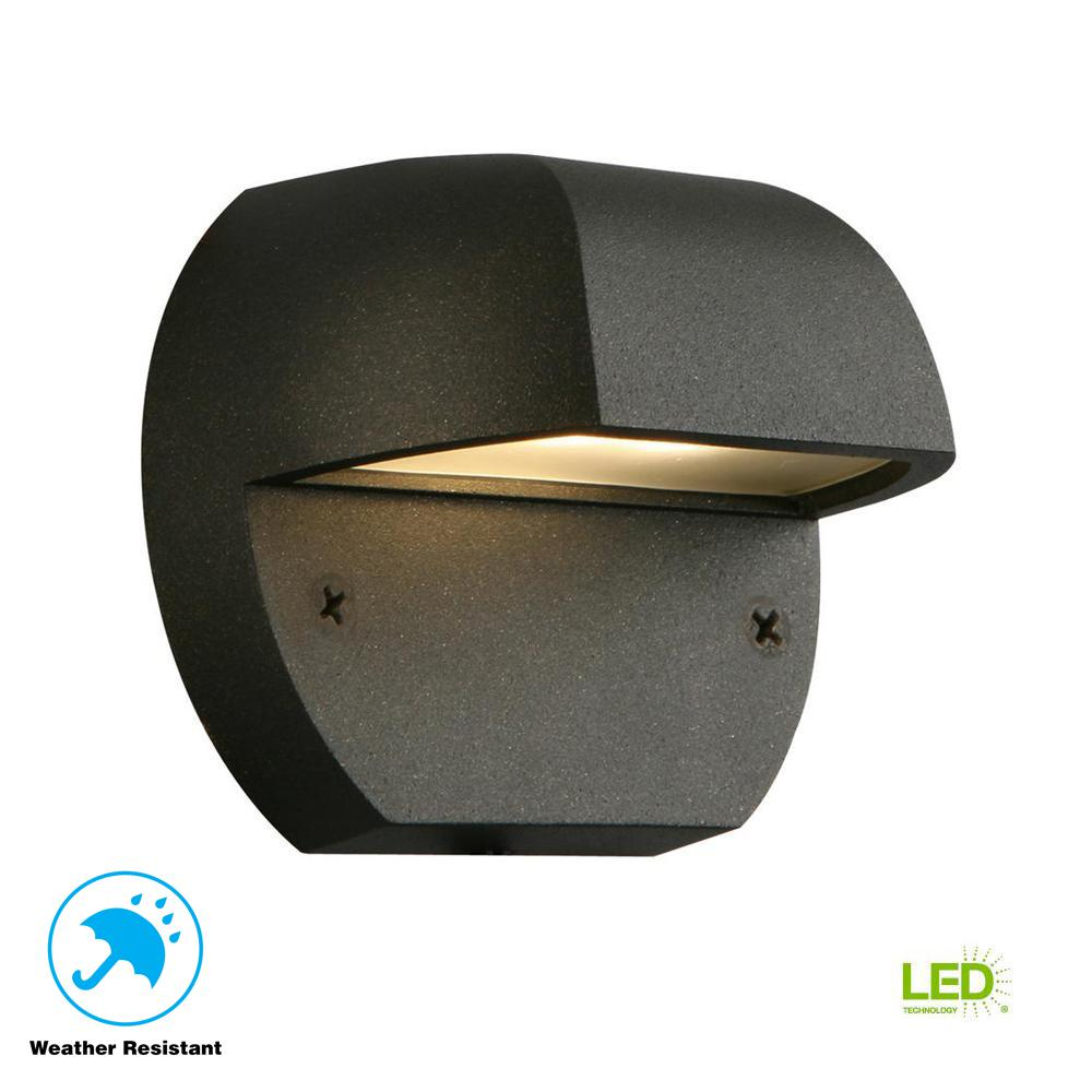 Hampton Bay Low Voltage Black Outdoor Integrated Led Surface Mount Light