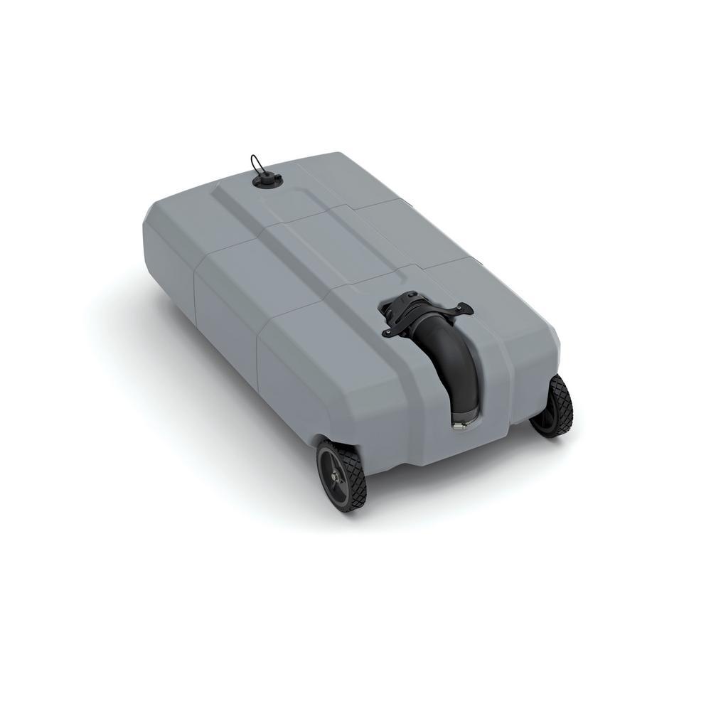 18 Gal. 2-Wheels Portable RV Waste Tote Tank