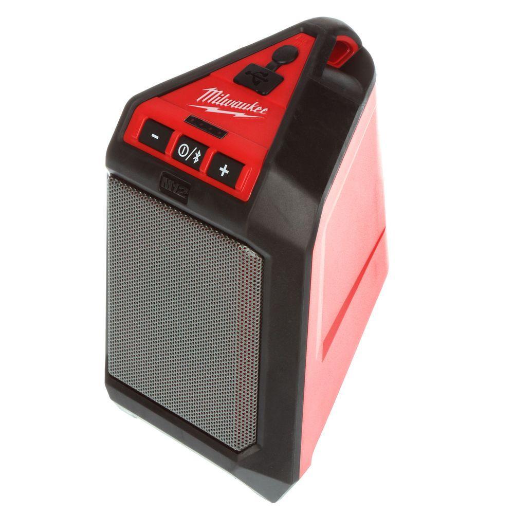 M12 12-Volt Lithium-Ion Cordless Bluetooth Wireless Jobsite Speaker (Tool-Only)