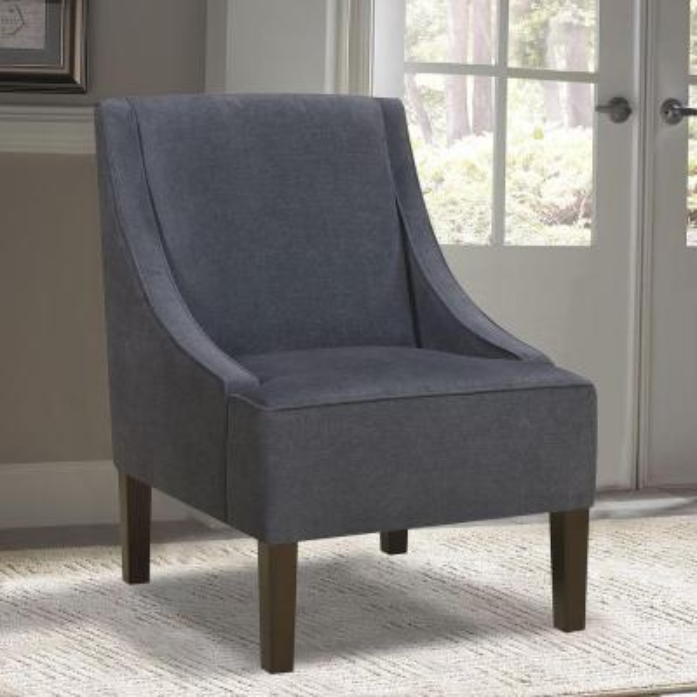 Dark Wash Denim Accent Chair