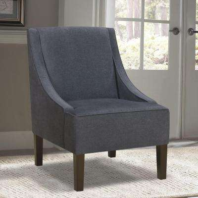 Dark Wash Denim Accent Chair