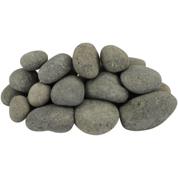 21.6 cu. ft. 1 in. to 3 in. 1620 lbs. Grey Caribbean River Pebbles