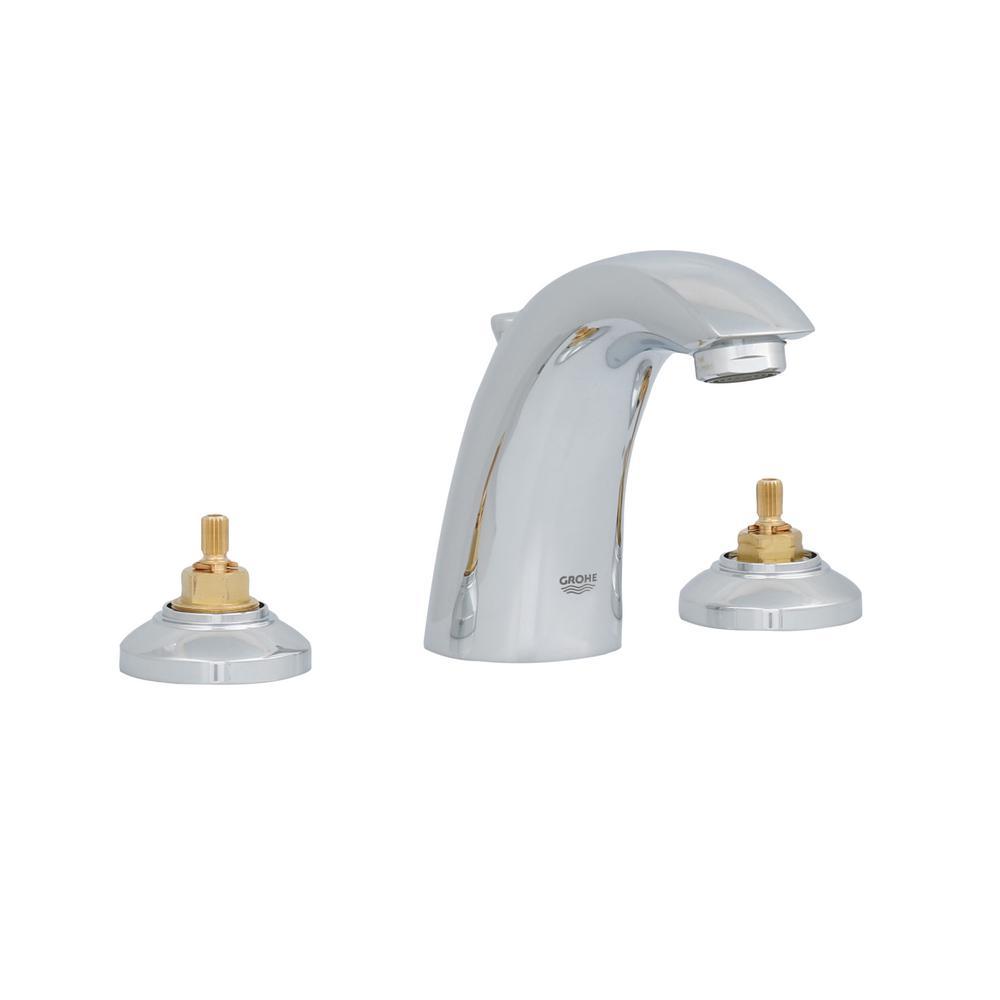 GROHE Arden 8 in. Widespread 2-Handle Low-Arc Bathroom Faucet in ...