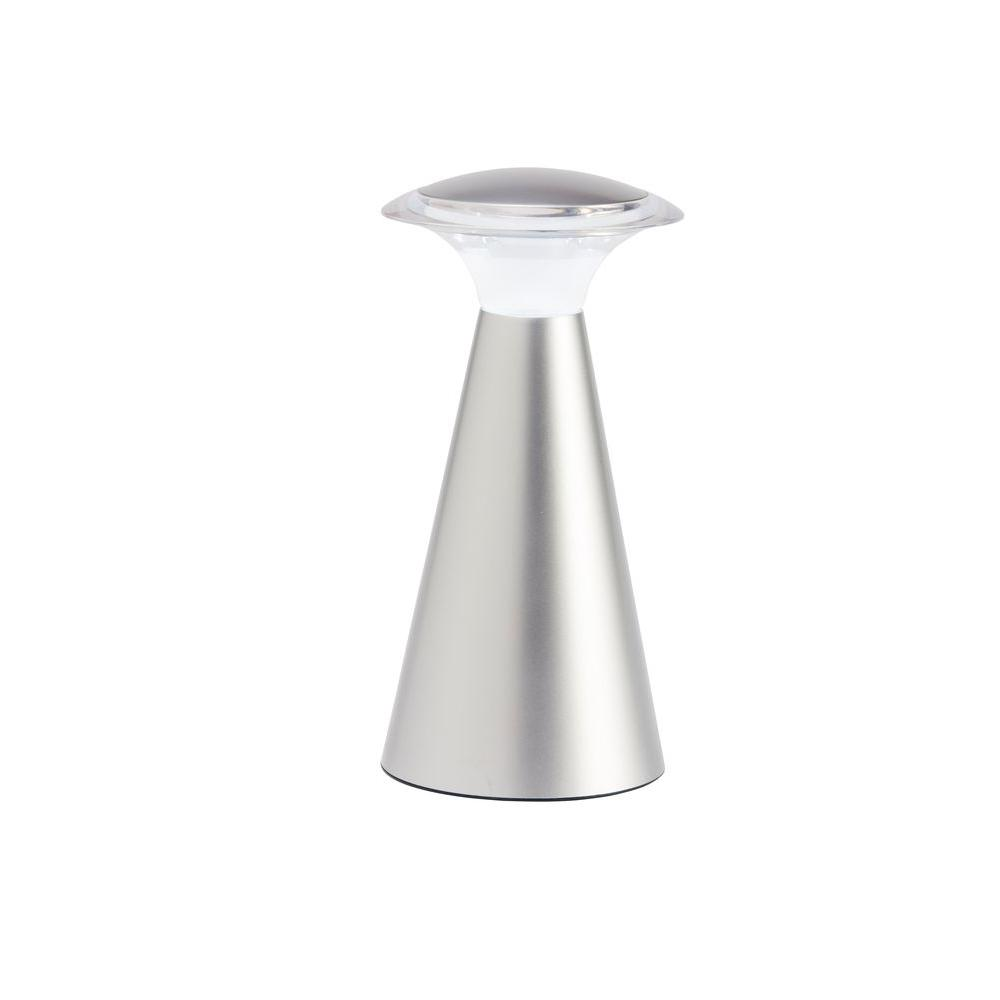 Light It! Silver Lanterna Touch 12-LED Wireless Lamp - ABS