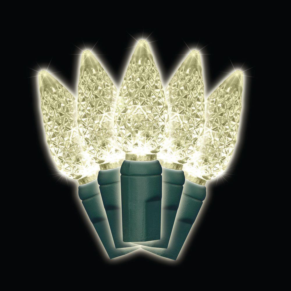 35-Light LED Warm White Battery-Operated C6 Light Set - C6 - LED - Warm White - Christmas Lights - Christmas Decorations