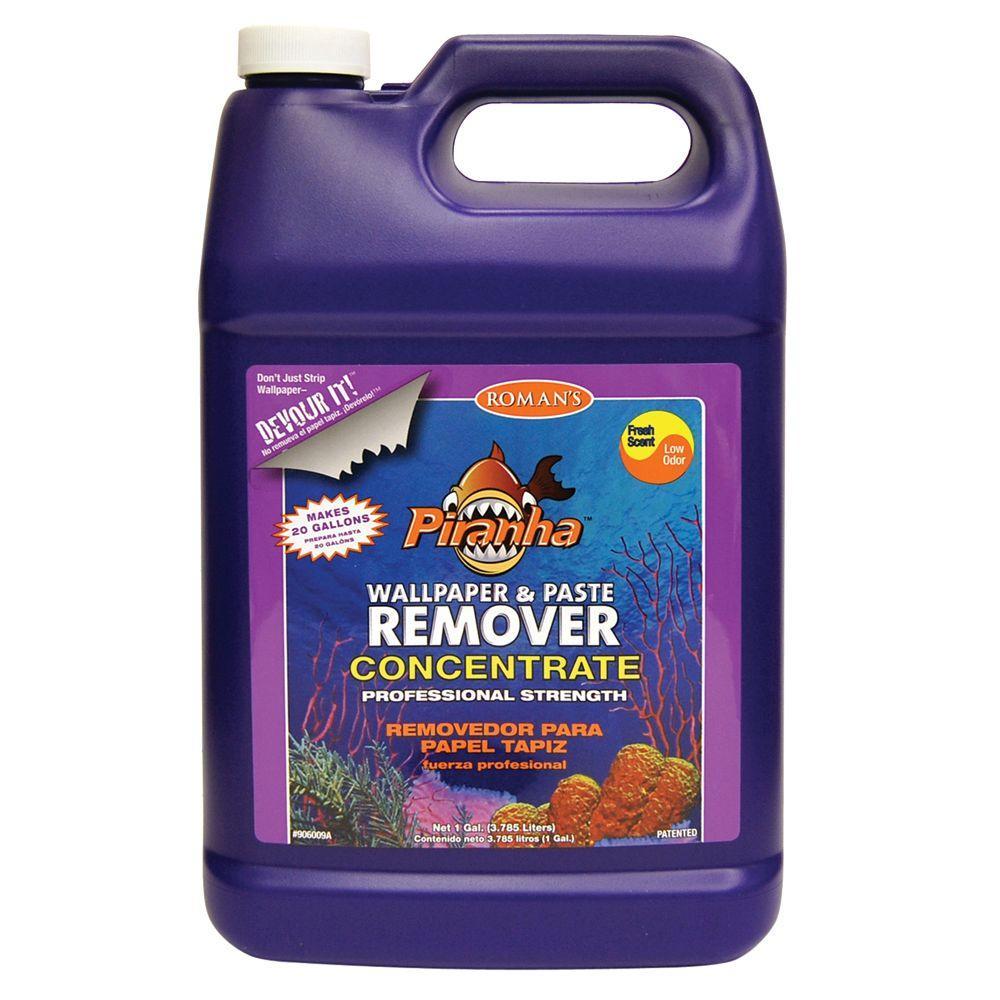 Roman piranha 1 gal liquid concentrate wallpaper remover for Home wallpaper remover