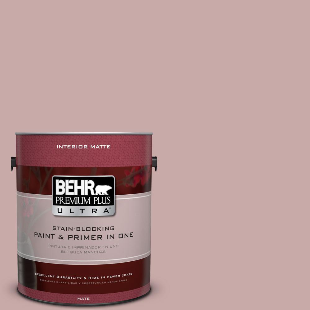 BEHR Premium Plus Ultra 1 gal. #130E-3 Rosy Tan Flat/Matte Interior Paint