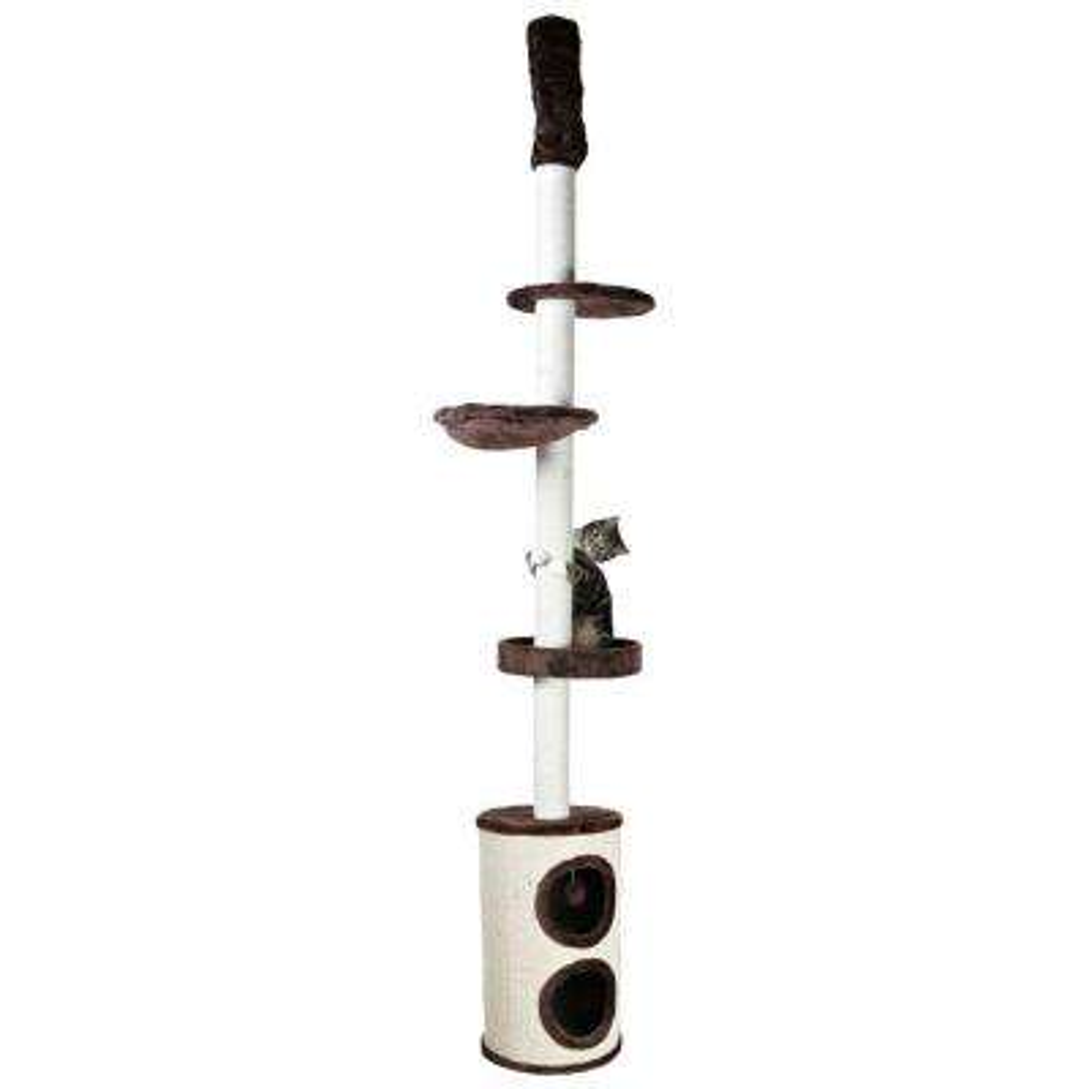 Cream/Chocolate Brown Linea Cat Playground