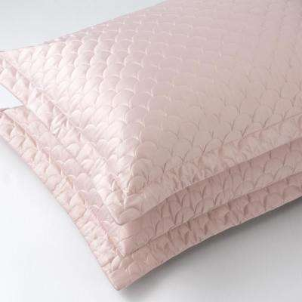 Nikki Chu Rose Gold Standard Quilted Pillow Sham