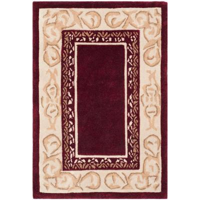 Total Performance Burgundy/Ivory 3 ft. x 5 ft. Area Rug