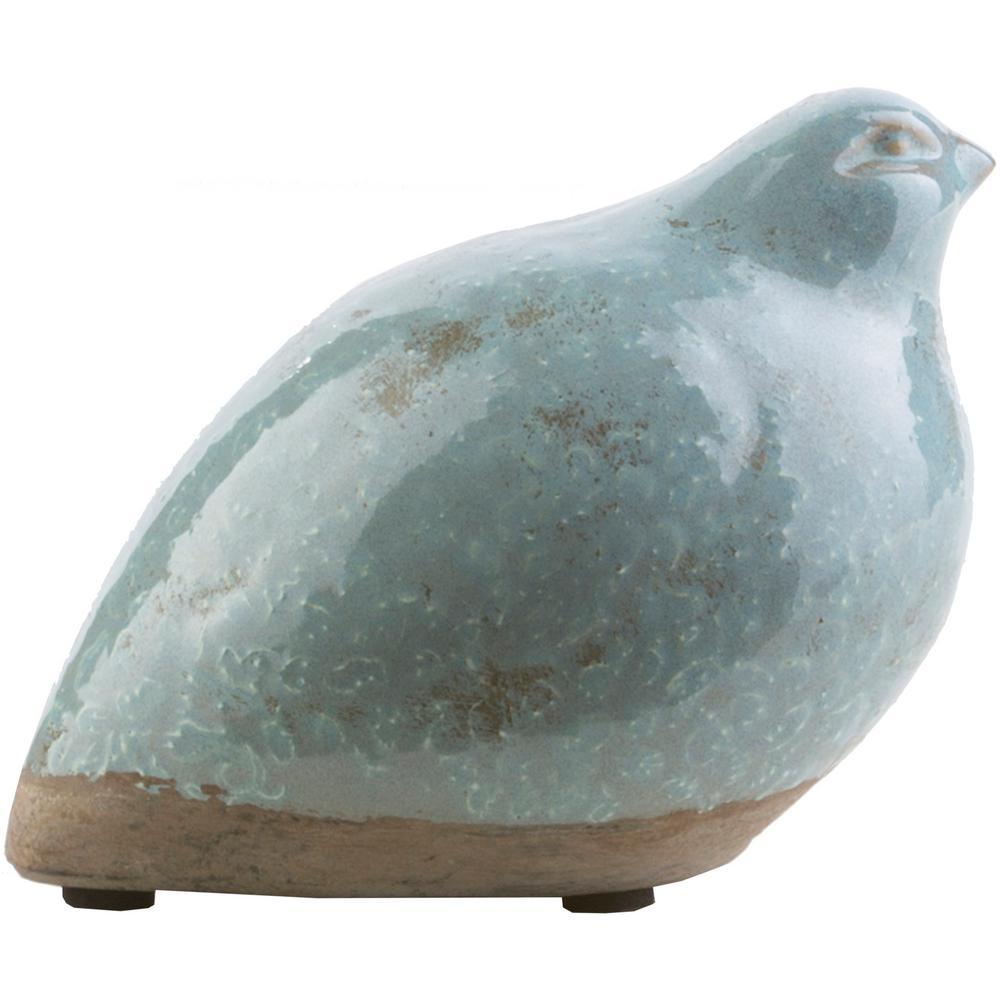 Symane 5.51 in. x 3.94 in. Sage Ceramic Bird Sculpture