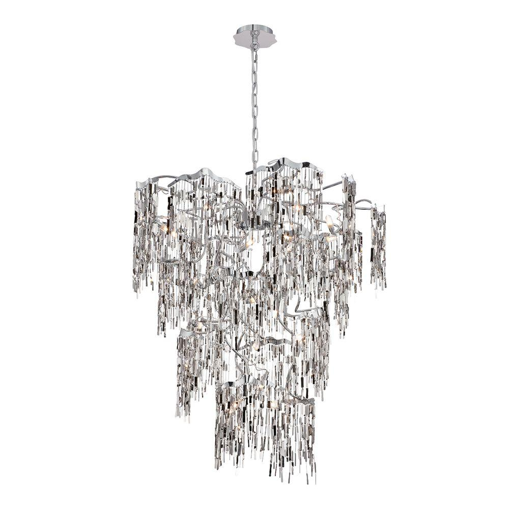 Led eurofase chandeliers lighting the home depot elfassy collection 14 light chrome chandelier arubaitofo Image collections
