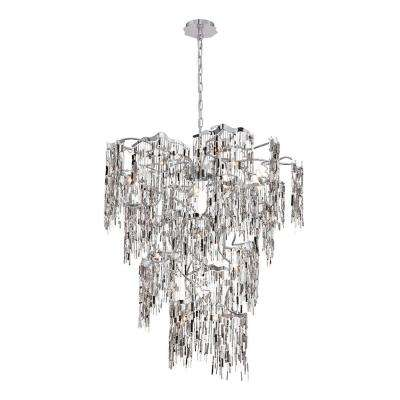 Elfassy Collection 14-Light Chrome Chandelier