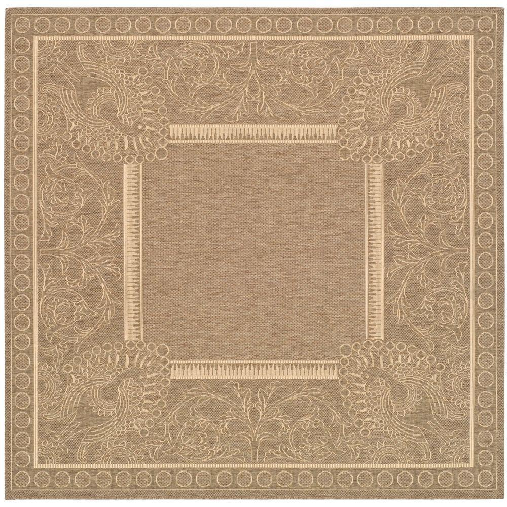 Safavieh Courtyard Brown Natural 7 Ft 10 In X 7 Ft 10
