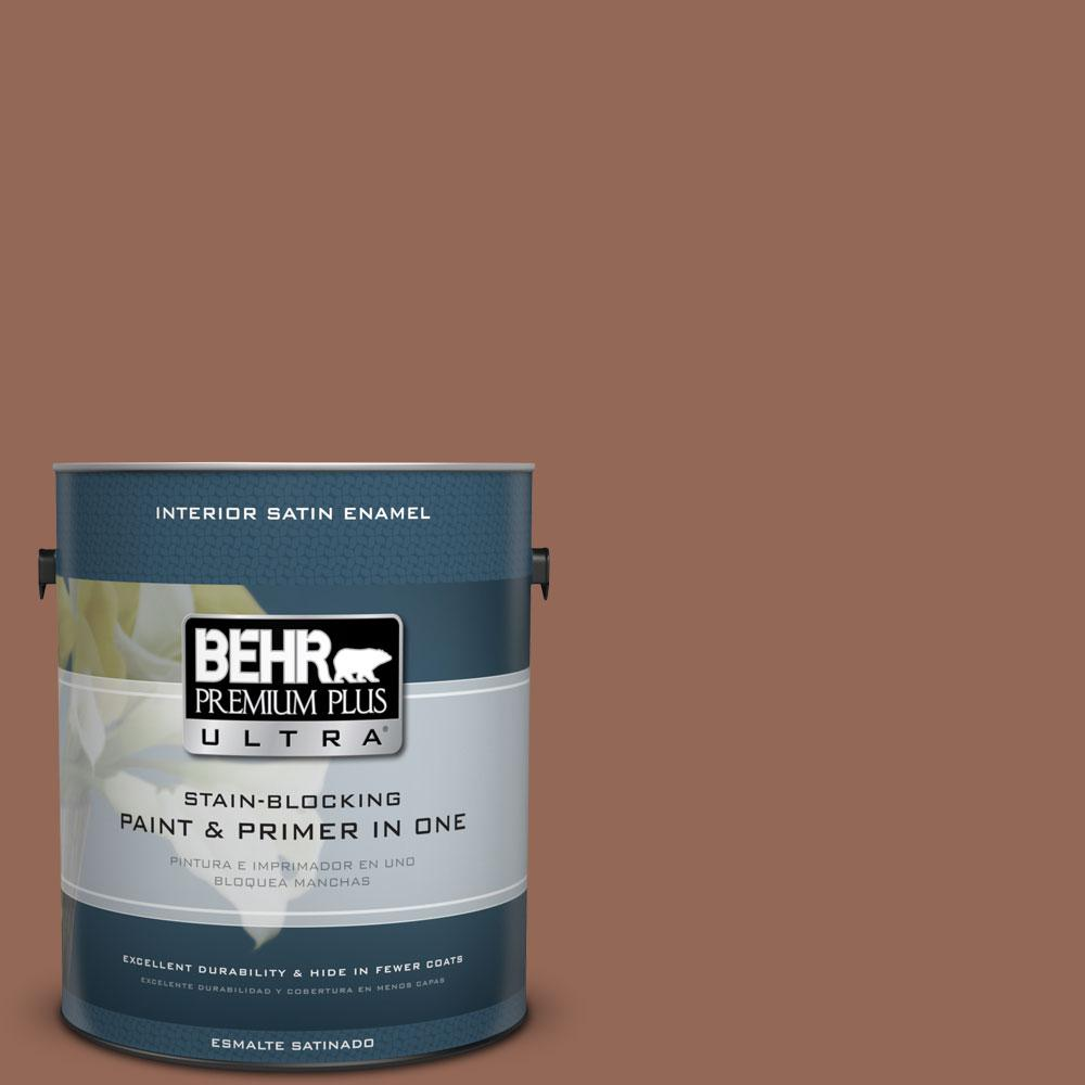 BEHR Premium Plus Ultra 1-gal. #S190-6 Rio Rust Satin Enamel Interior Paint