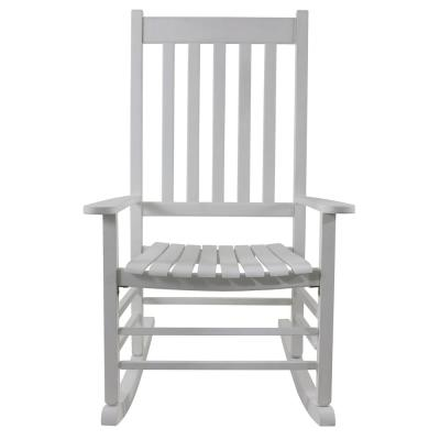 Shelby White Wood Outdoor Porch Rocker