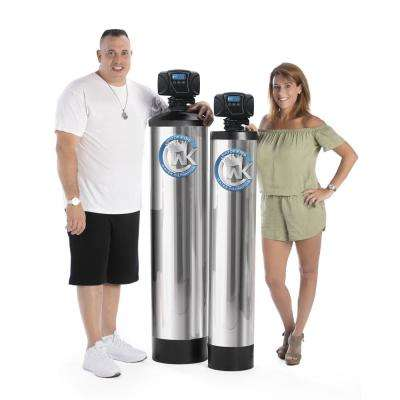 Whole Home Alkaline Water Filter with Built in Anti-Scale Magnetic Ionizer Treats Homes with 4 or more Bathrooms
