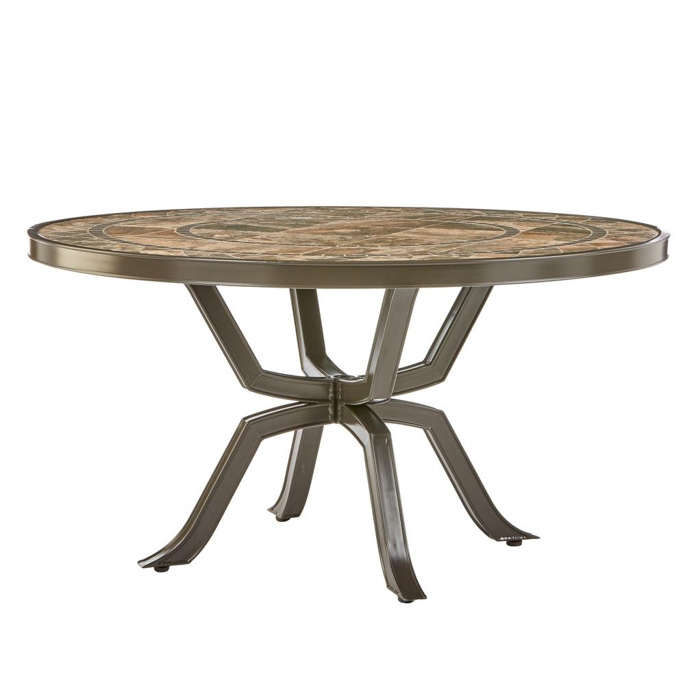 Home Decorators Collection Richmond Hill 54 in. Round Patio Dining ...