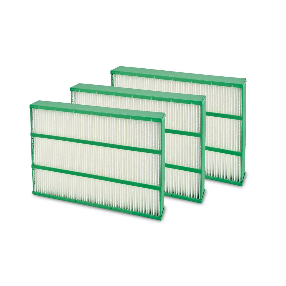 Brondell O2+ Revive Replacement Humidifier Filter (3-Pack), Whites 1-YEAR REPLACEMENT FILTER PACK: 3 Humidity Filters for 1-year of use in the O2+ Revive are included. Specialty Filters and Standard Replacement Filters are NOT included (sold separately)IT'S NOT JUST AN AIR PURIFIER. The Revive is a premium TrueHEPA air purifier and unique humidifier. Don't just filter your air, refresh it with the Revive. Adding moisture to filtered air not only helps relieve allergy symptoms, stuffy nose and sinus congestion, but it also effectively relieves dry skin and reduces asthma symptoms. Super-efficient evaporative humidification makes for a more consistent humidity level and wont over-saturate the immediately-surrounding area. Color: Whites.