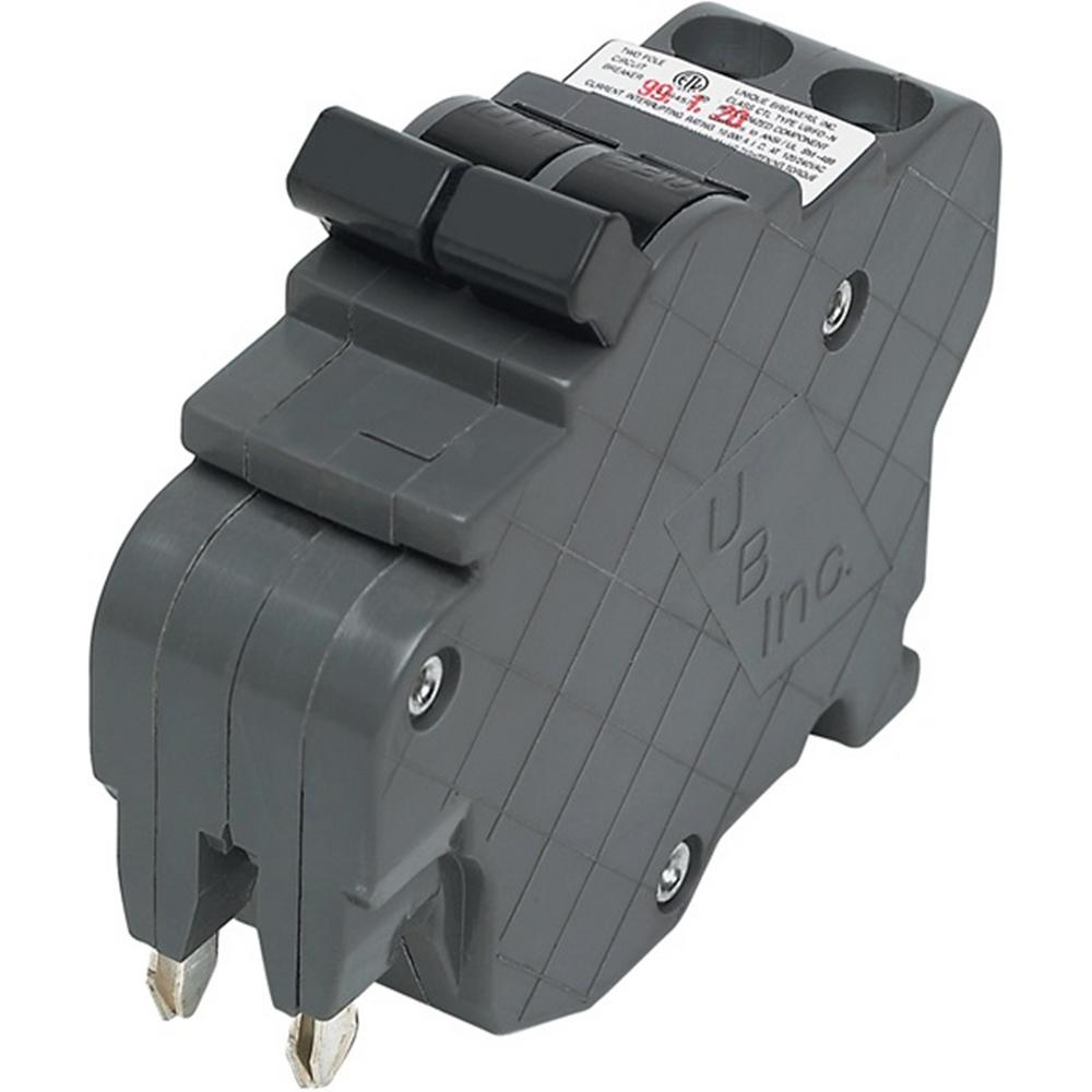Federal Pacific Circuit Breakers Power Distribution The Home Depot 200 Amp Fuse Box New Ubif Thin 35 1 In 2 Pole Stab Lok