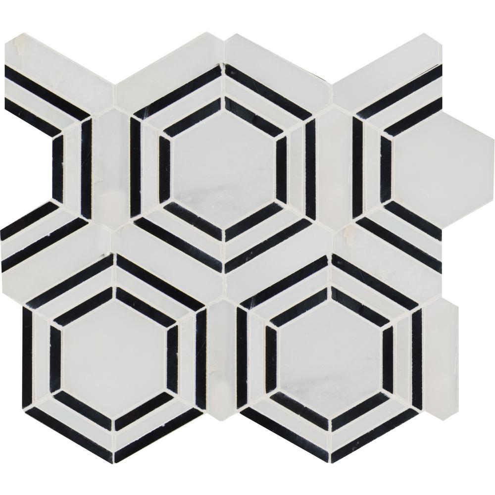 MSI Georama Nero 13 In. X 11 In. X 10 Mm Polished Marble