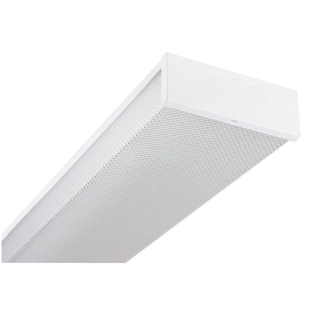 Saintonge 4-Light White Fluorescent Ceiling Light