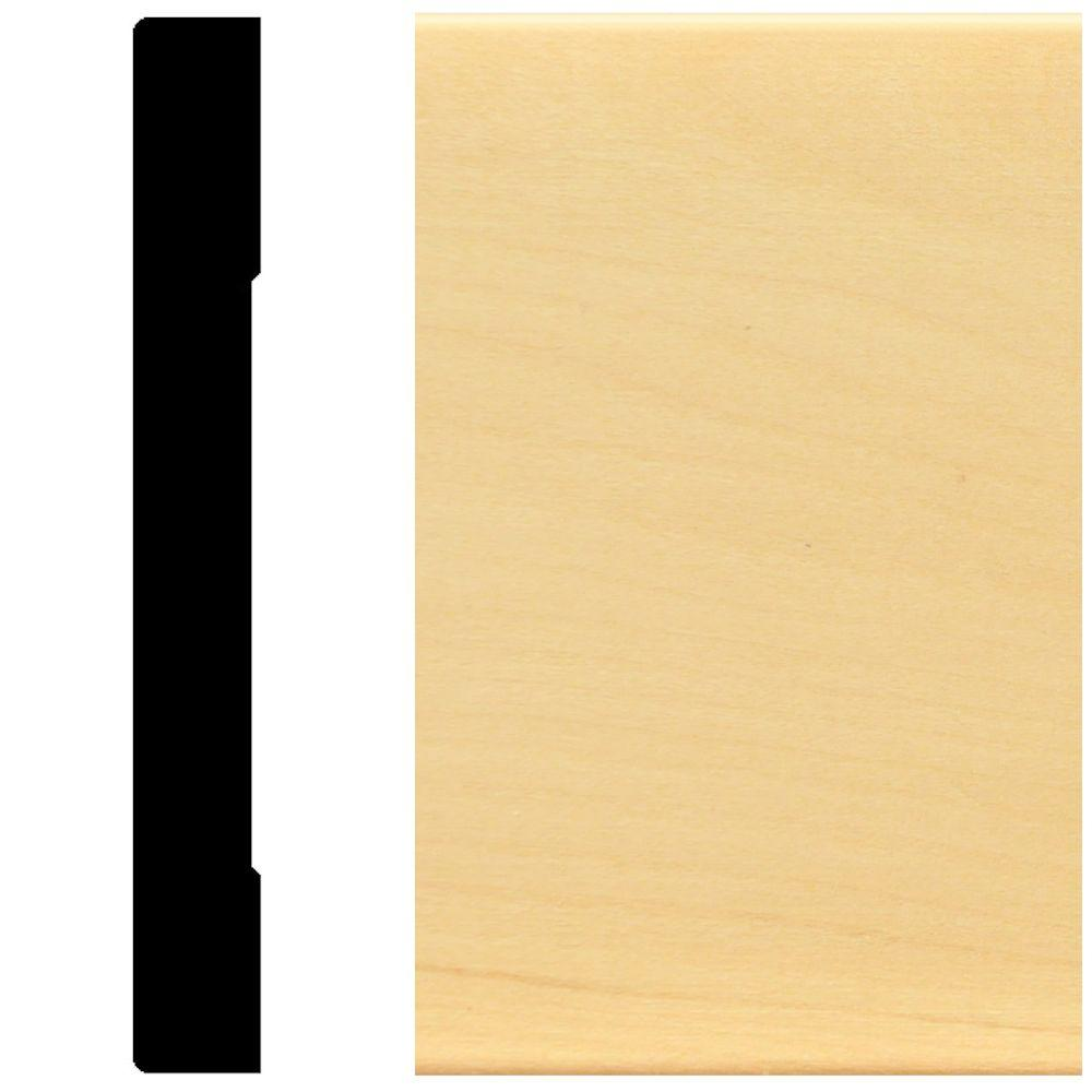5/8 in. x 5-1/4 in. Hardwood Base Moulding