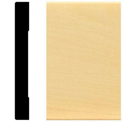 5/8 in. x 5-1/4 in. x 96 in. Hardwood Mullion Base Moulding