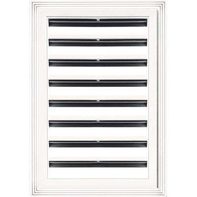 12 in. x 18 in. Rectangle Gable Vent #117 Bright White