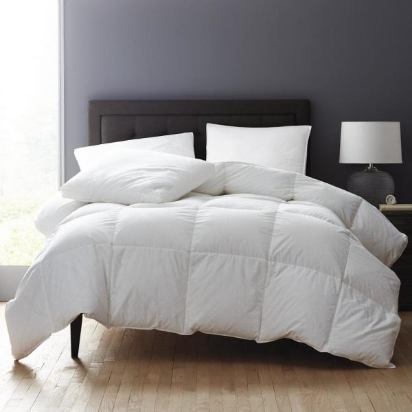 The Company Store Black Label PrimaLoft Medium Weight White Queen Comforter