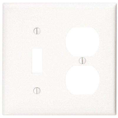 2-Gang 1-Toggle 1 Duplex Combination Wall Plate, White