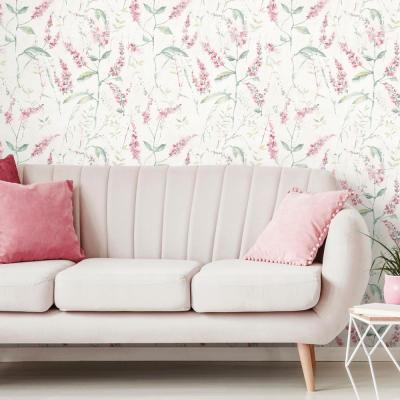 28.18 sq. ft. Floral Sprig Peel and Stick Wallpaper