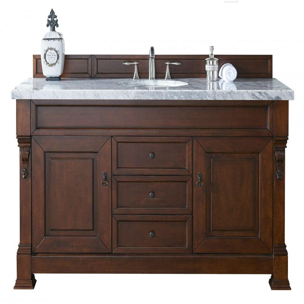 Vanity Marble Vanity Top Cerrara White Basin pic 390