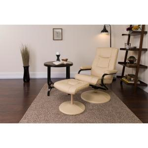 Fine Flash Furniture Contemporary Cream Leather Recliner And Evergreenethics Interior Chair Design Evergreenethicsorg