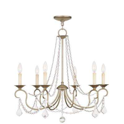 Providence 6-Light Antique Silver Leaf Incandescent Ceiling Chandelier