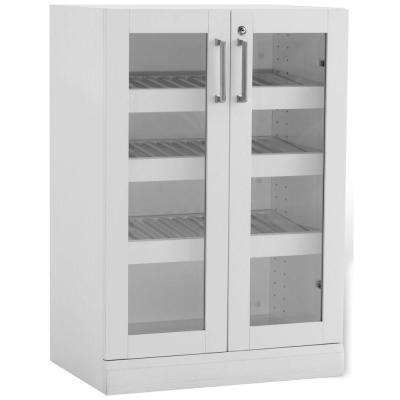 Home Bar White 16 in. Display Cabinet