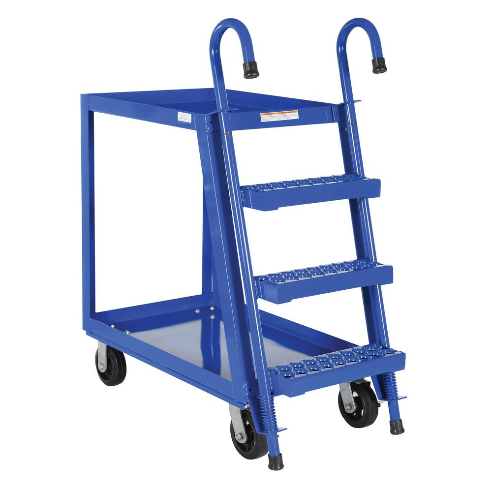 Vestil 1,000 lb. 22 in. x 36 in. Steel 2 Shelf Stock Pick...