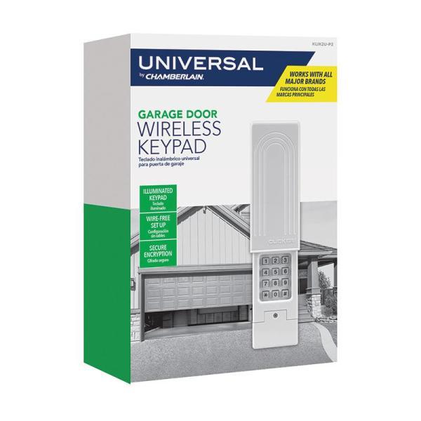 Chamberlain Universal Clicker Garage Door Keypad Klik2u P2 The Home Depot