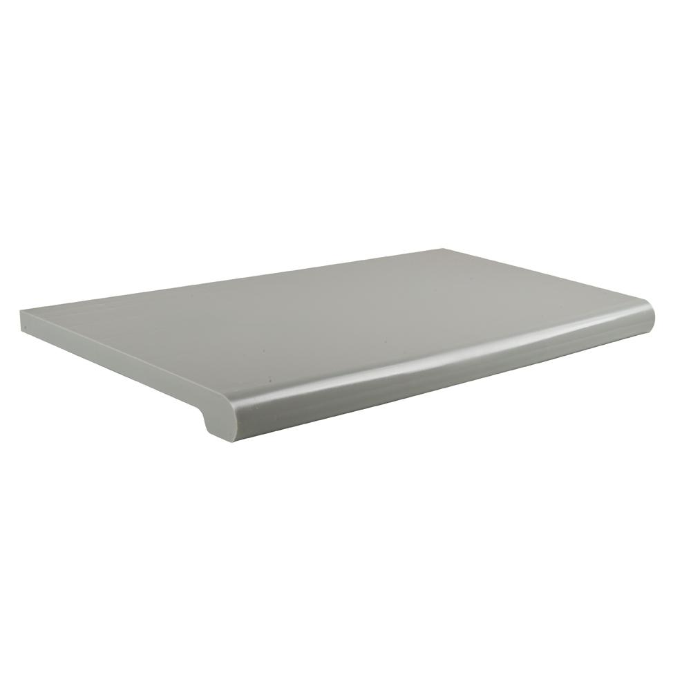 24 in. W x 13 in. D Gray Open-Bottom Bullnose Shelf
