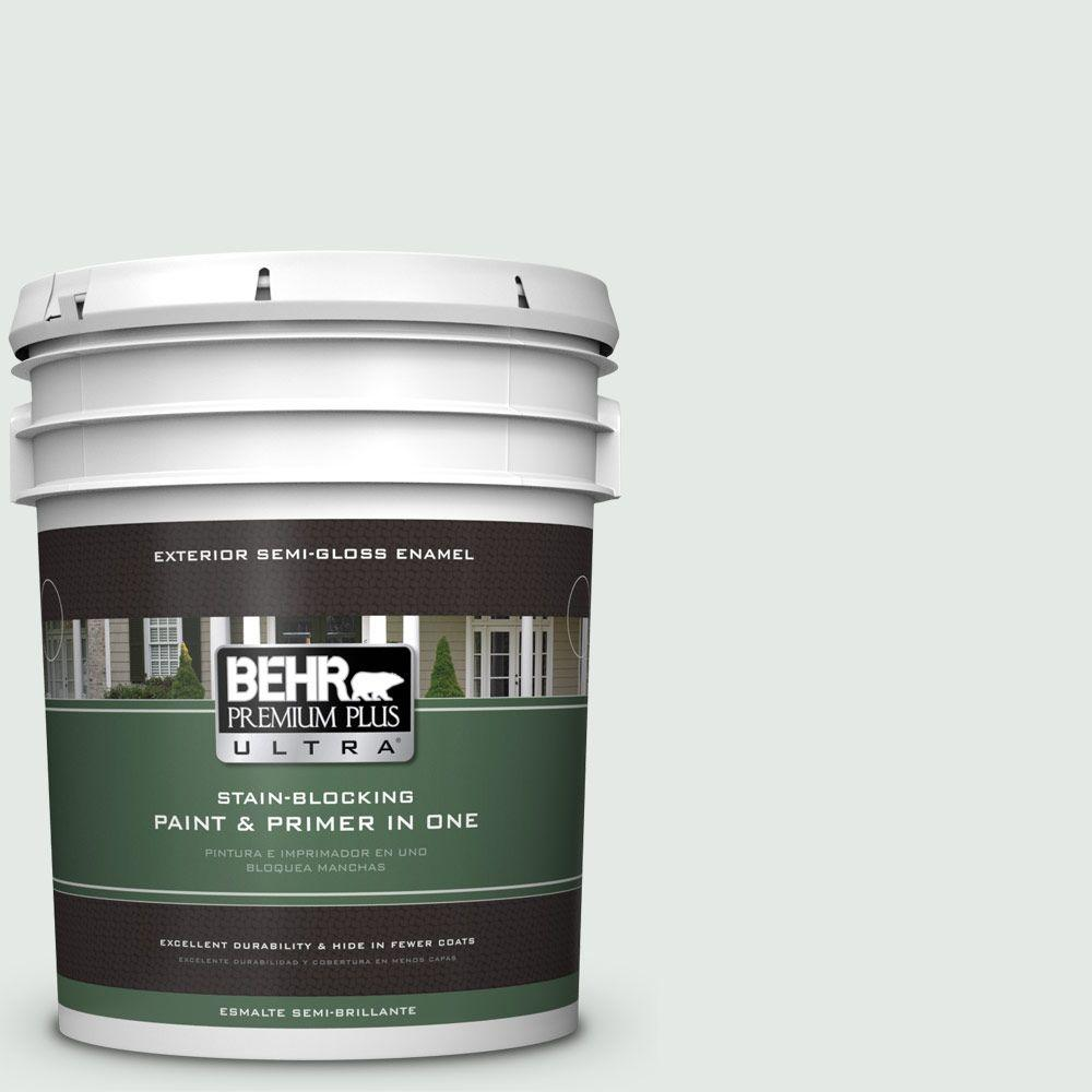 BEHR Premium Plus Ultra 5-gal. #BL-W7 Wind Chill Semi-Gloss Enamel Exterior Paint