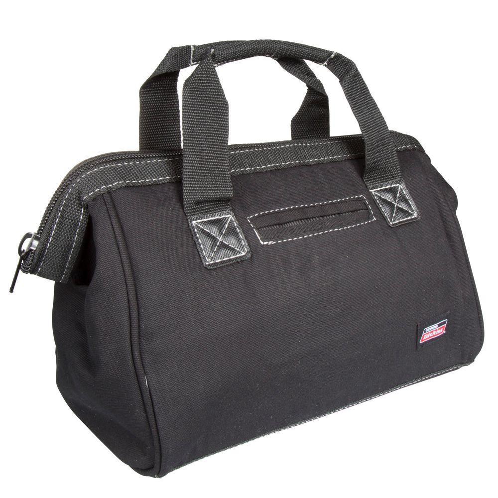 12 in. Soft Sided Construction Work Tool Bag, Black