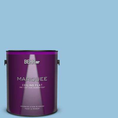 1 gal. #M520-3 Charismatic Sky One-Coat Hide Ceiling Flat Interior Paint and Primer in One