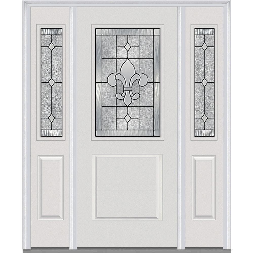 White Front Door With Glass Traditional 36\\ White Front Door With ...