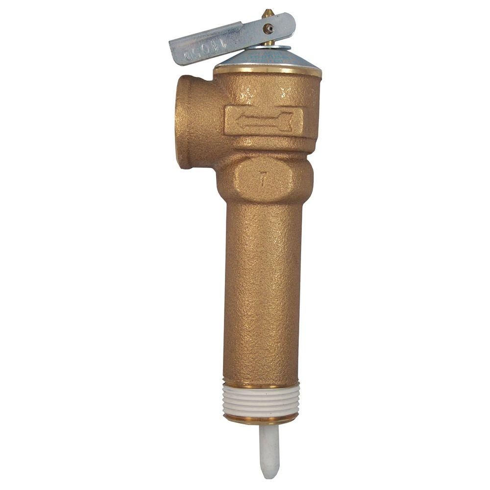 3/4 in. Bronze NCLX-5LX Temperature and Pressure Relief Valve with 3-1/2