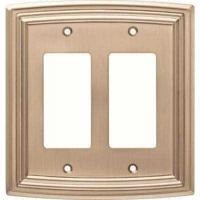 Classical 2-Gang Decorator, Champagne Bronze