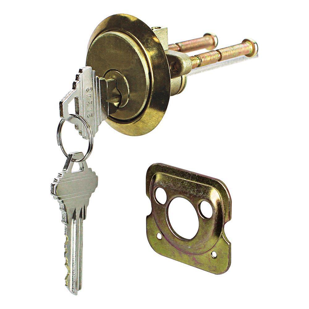 Bright Brass Schlage Rim Cylinder