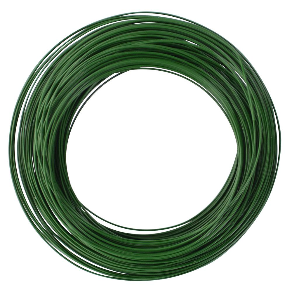 The Hillman Group 50 ft. 24-Gauge Green Floral Wire Twister