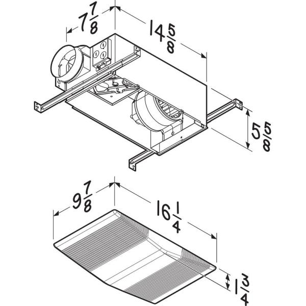 Broan Nutone Heat A Vent 70 Cfm Ceiling Bathroom Exhaust Fan With 1300 Watt Heater 605rp The Home Depot