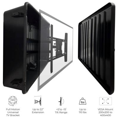Outdoor TV Hard Cover Weatherproof Protection 45 in. - 55 in. Television Mounting Bracket Included