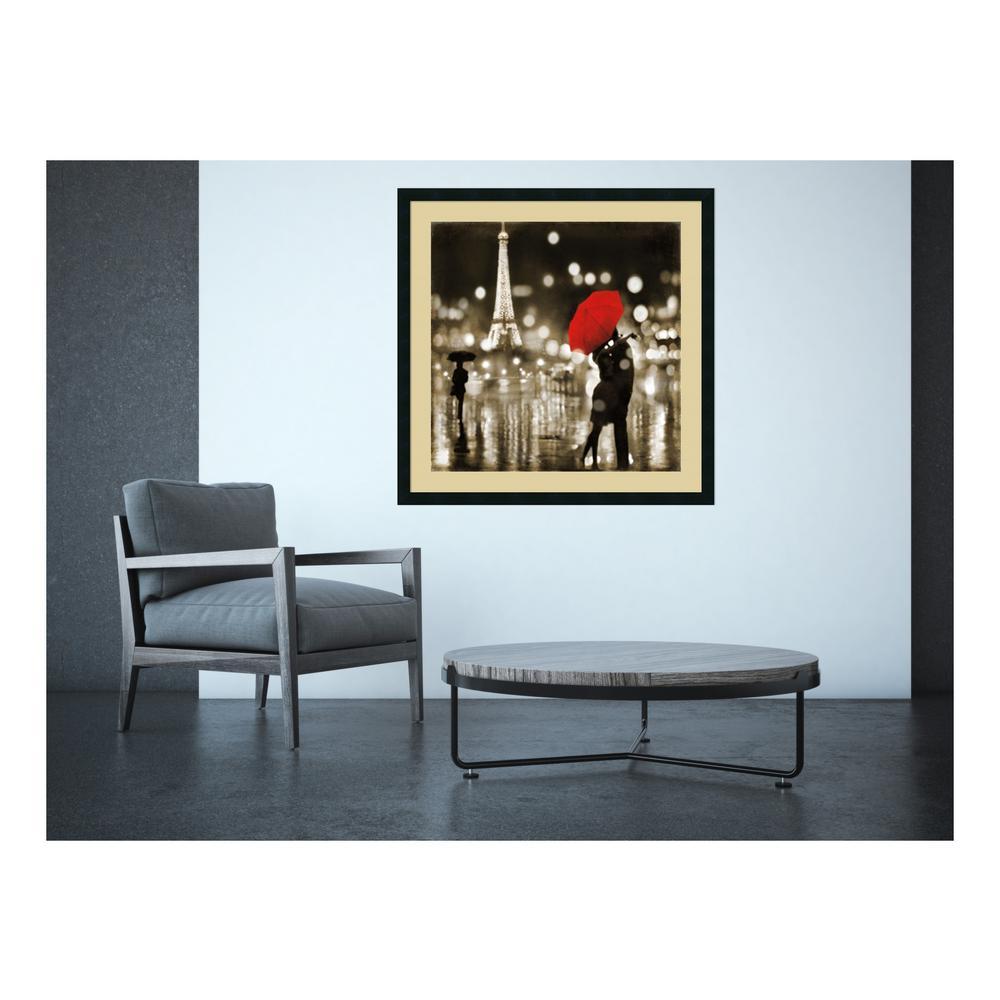 "34 in. W x 34 in. H ""A Paris Kiss"" by Kate Carrigan Framed Art Print"